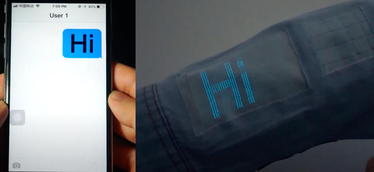 Учёные создали экран прямо в рукаве рубашки
