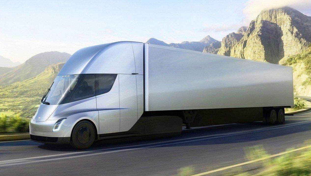 Tesla впервые опубликовала видео с движущимся электрогрузовиком Tesla Semi