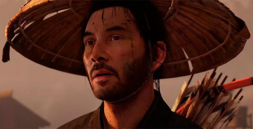 Компьютер переместил Киану Ривза в игру Ghost of Tsushima