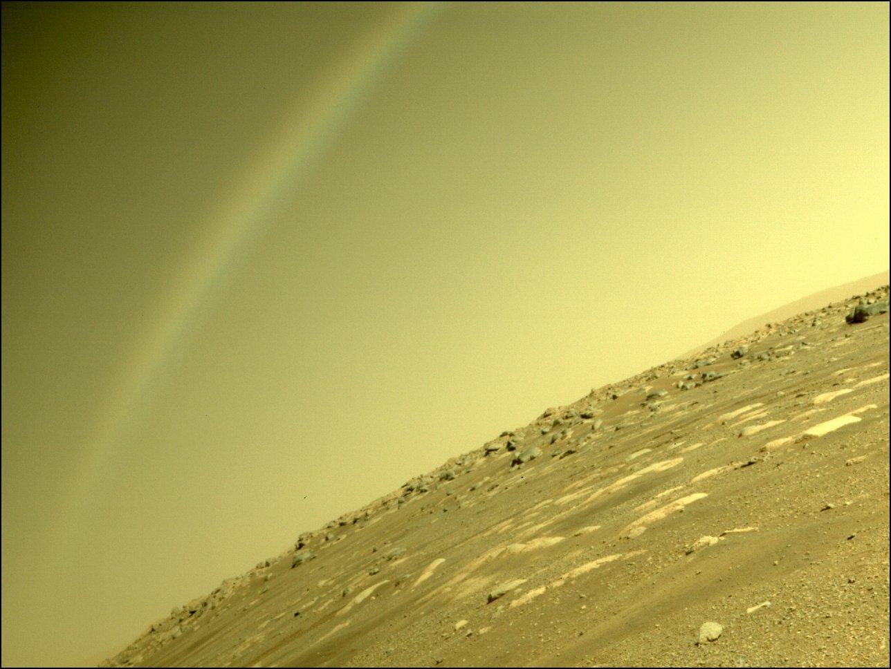 NASA раскрыло происхождение радуги на снимках с Марса