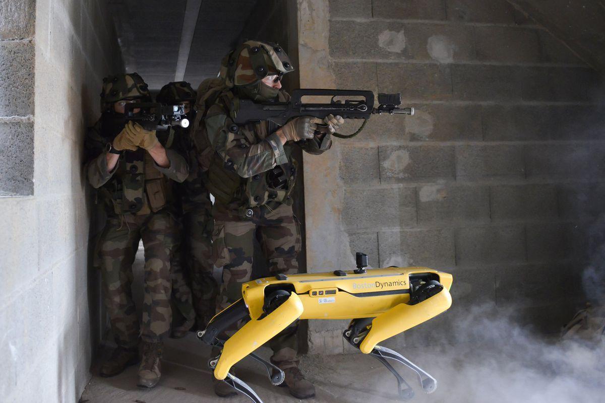 Французская армия испытала боевых роботов-собак