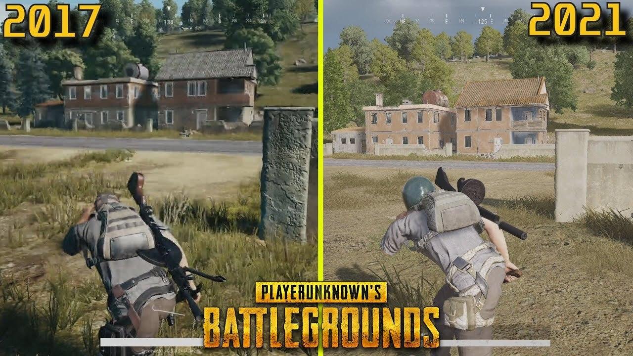 Опубликовано видеосравнение популярной игры PUBG в 2017 и в 2021 годах