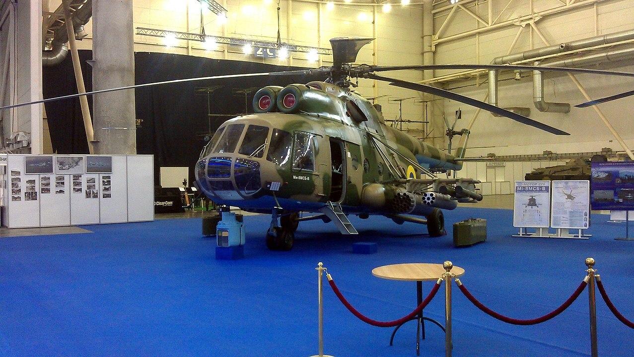 Украинский транспортный вертолёт назвали летающей ракетной батареей