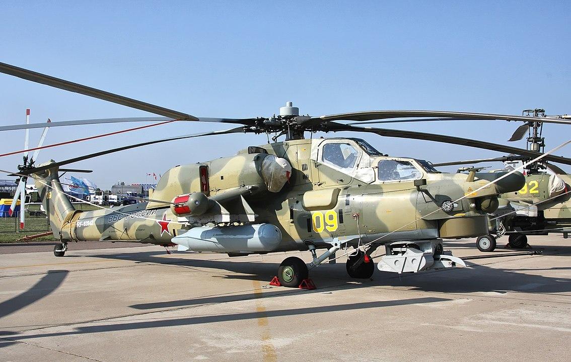 Российский вертолёт Ночной охотник вооружили ракетами нового поколения