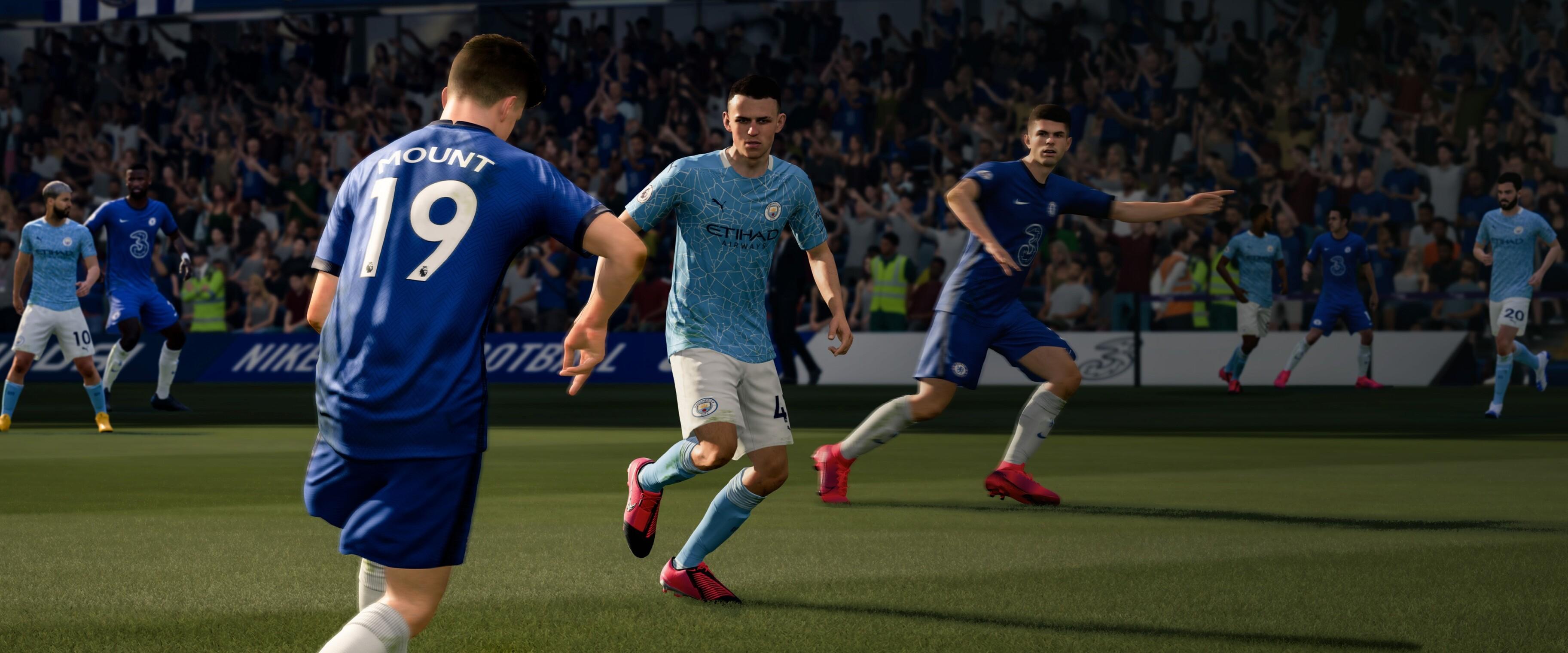 Новейший футбольный симулятор FIFA 2021 для PlayStation 4 продают со скидкой 79%