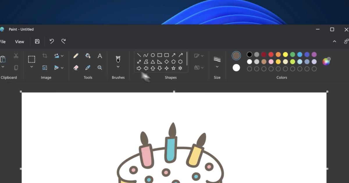 Microsoft опубликовала видео с новым дизайном Paint для Windows 11