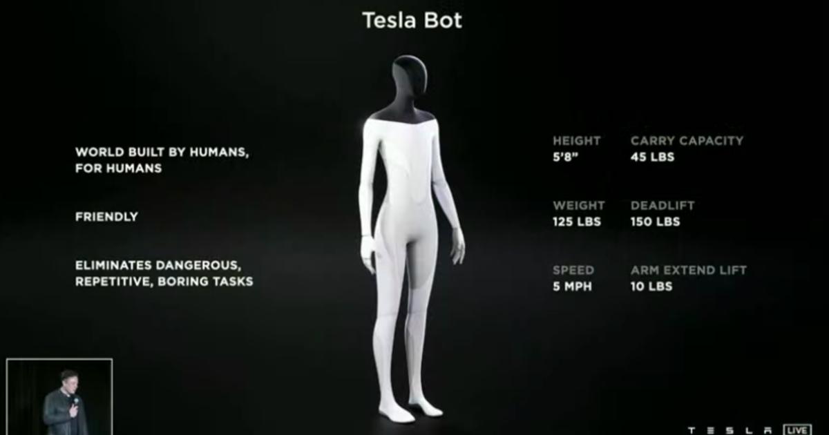 Илон Маск выпустит гуманоидного робота Tesla Bot