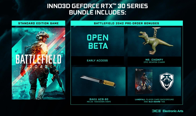 Покупатели флагманских видеокарт RTX 30XX получат новейшую Battlefield 2042