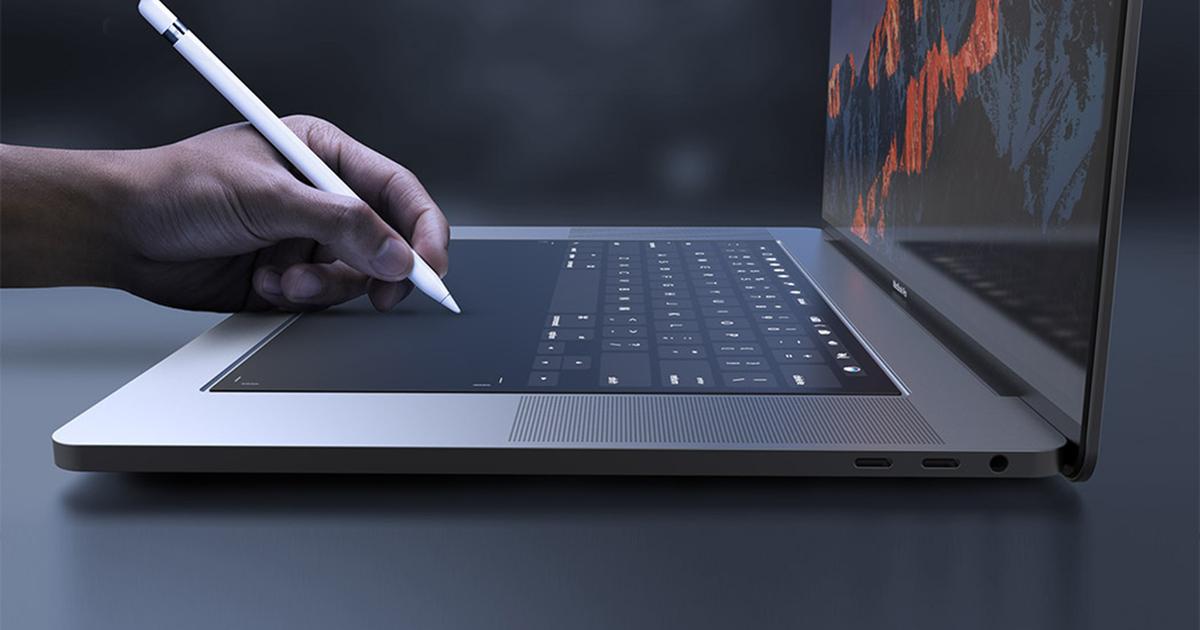 Apple изобрела MacBook с двумя экранами