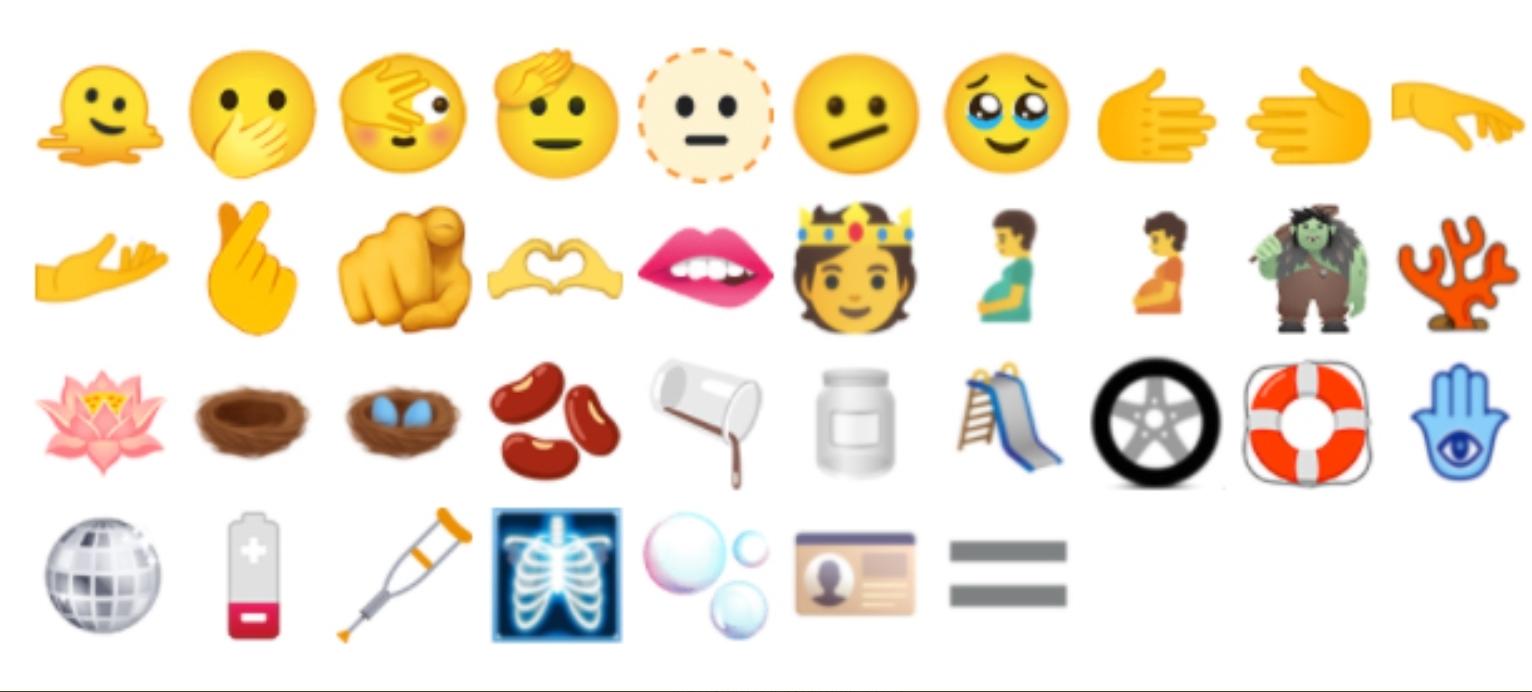 Показаны 37 новых смайликов для Telegram, WhatsApp и других чатов