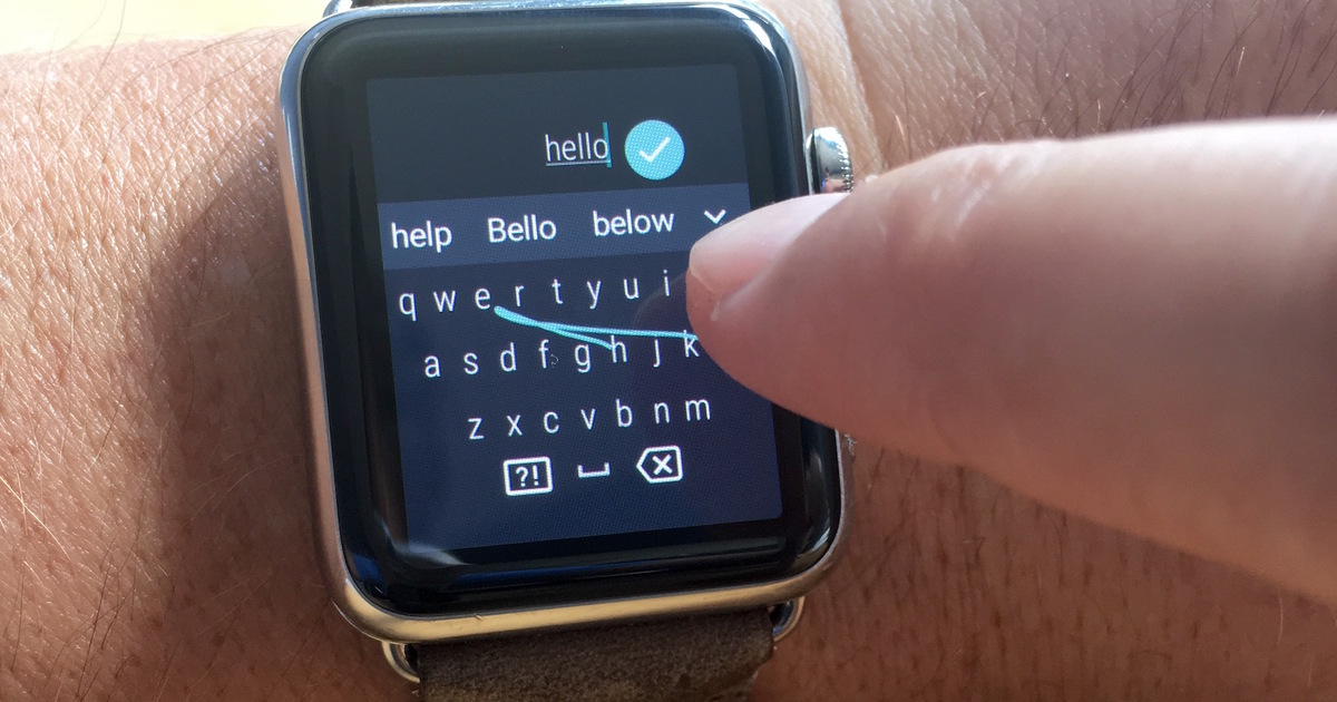 Apple не разрешала программистам выпускать клавиатуру на умные часы, а потом выпустила её сама
