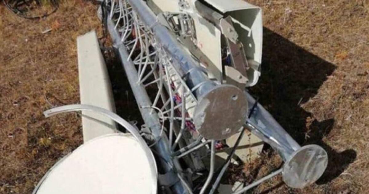 Жители России уничтожили ещё одну вышку сотовой связи из-за страха перед 5G
