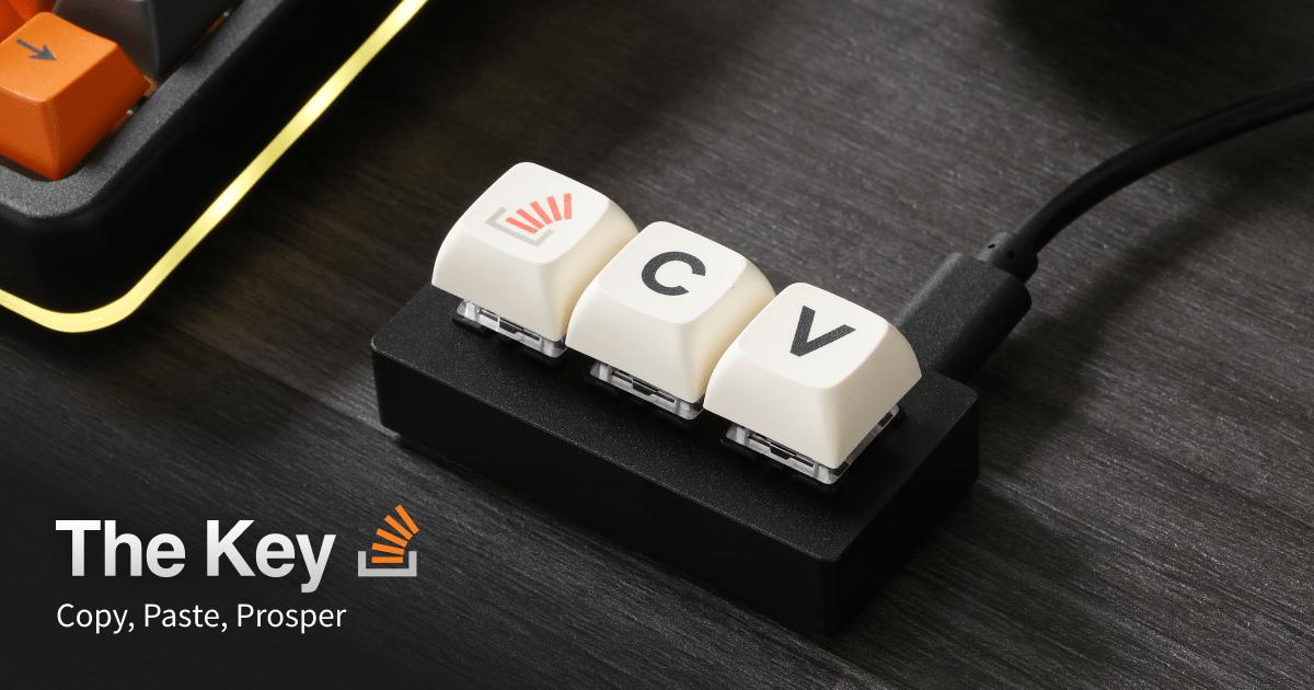 Создана клавиатура из трёх клавиш для ленивых программистов