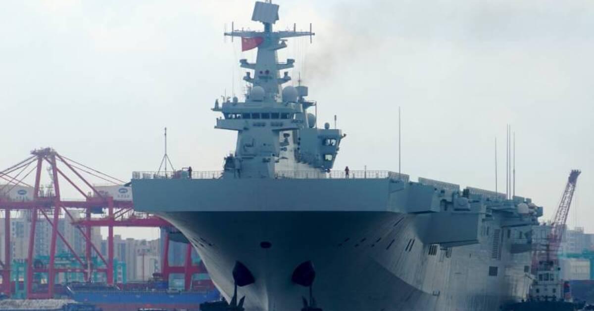 Опубликована фотография новейшего китайского вертолётоносца