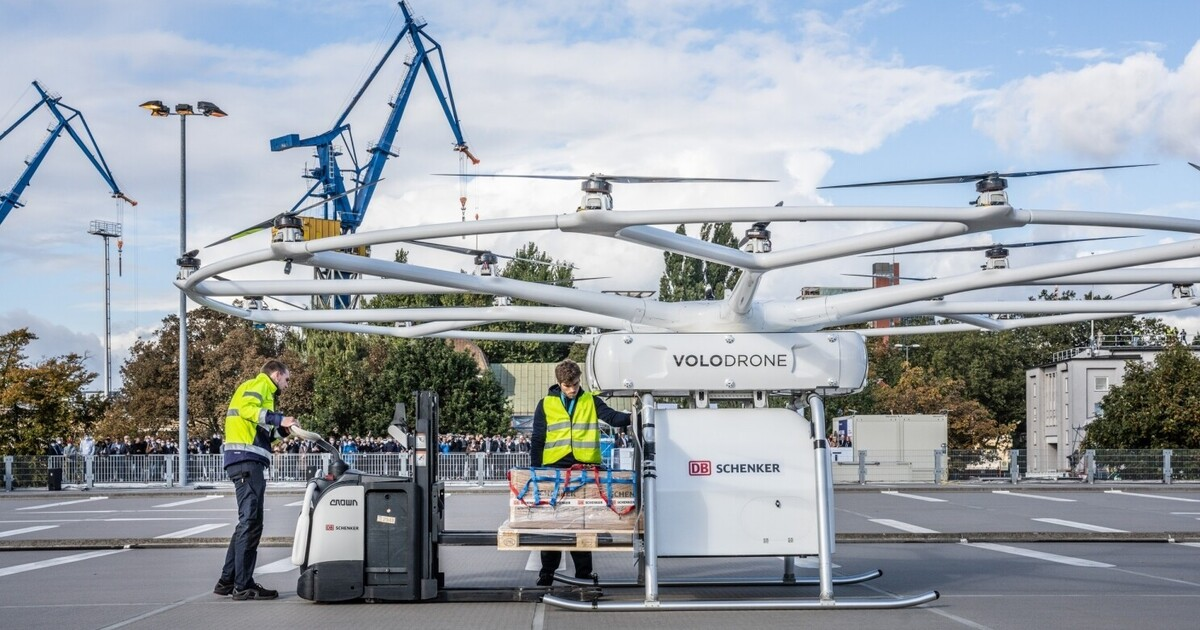 В Европе опробовали беспилотник для доставки тяжёлых грузов до 200 кг