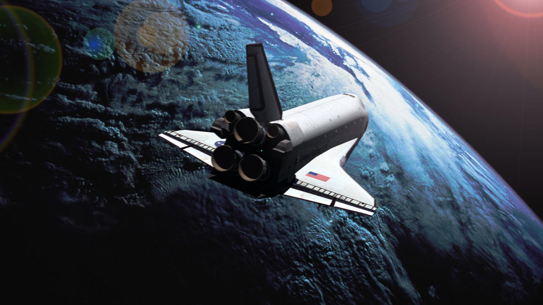 Обои земля, челнок, шатл. Космос foto 14