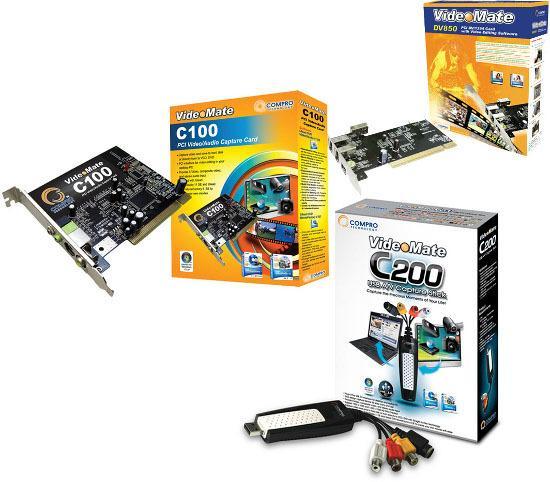 Compro VideoMate C100 C200 DV850