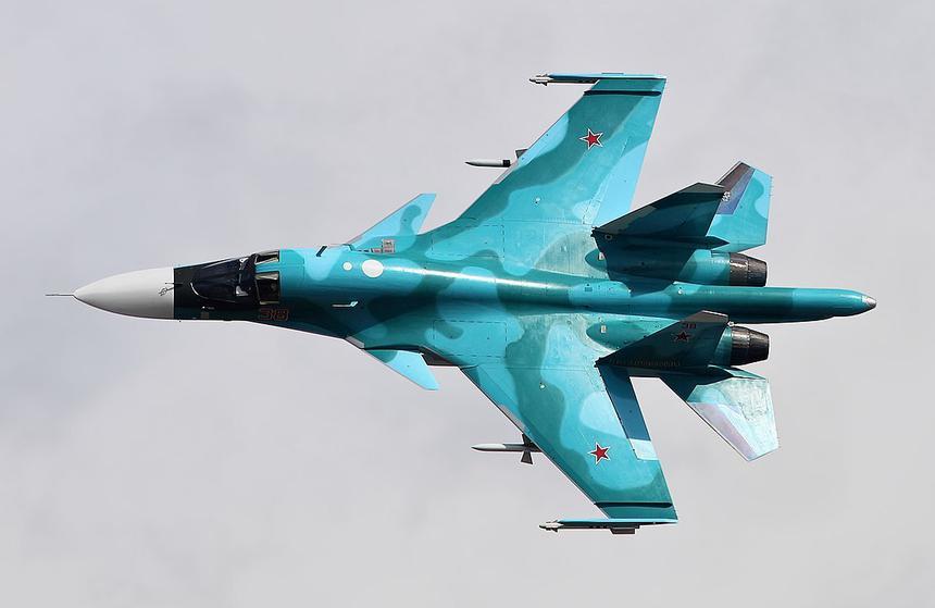 Показан истребитель Су-34 с 10 атомными бомбами