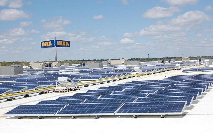 Все магазины IKEA в России перейдут на солнечные батареи