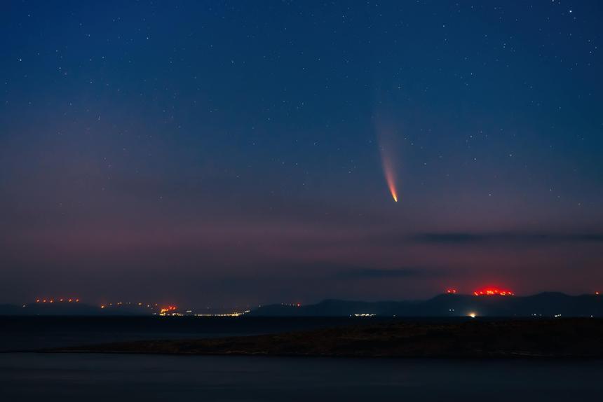 На видео показали большой метеор над США