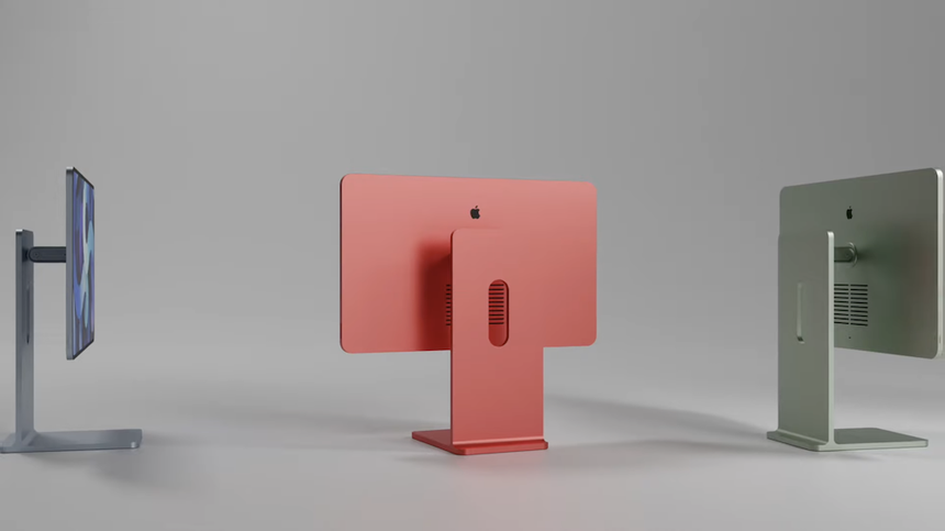 Опубликовано видео с новым компьютером Apple в дизайне планшета iPad Pro