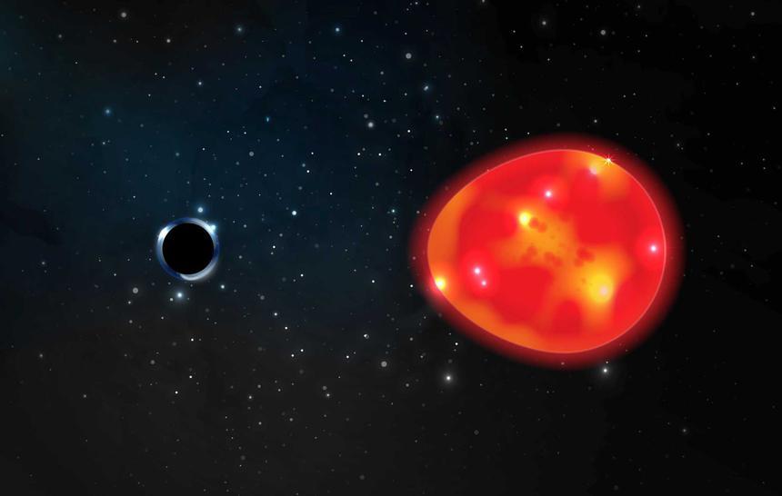 Найден ближайший к Земле кандидат в чёрную дыру