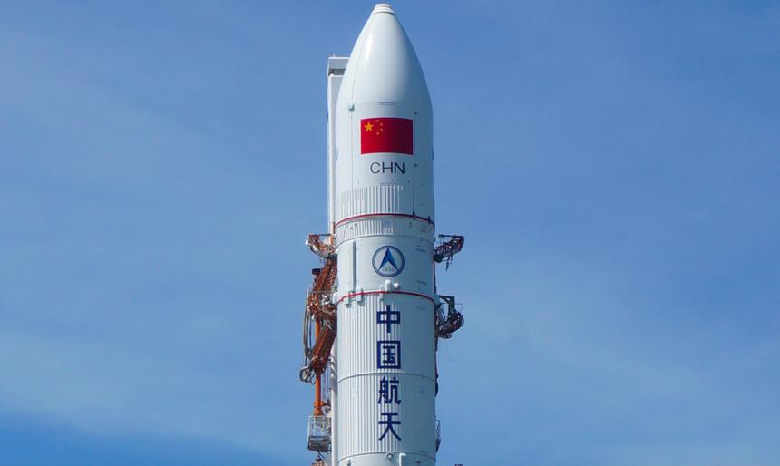 Показано фото опасного куска китайской ракеты в телескоп