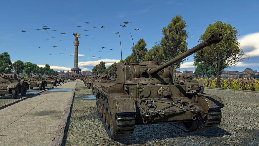 Виртуальный Парад Победы игроков в War Thunder попал на видео