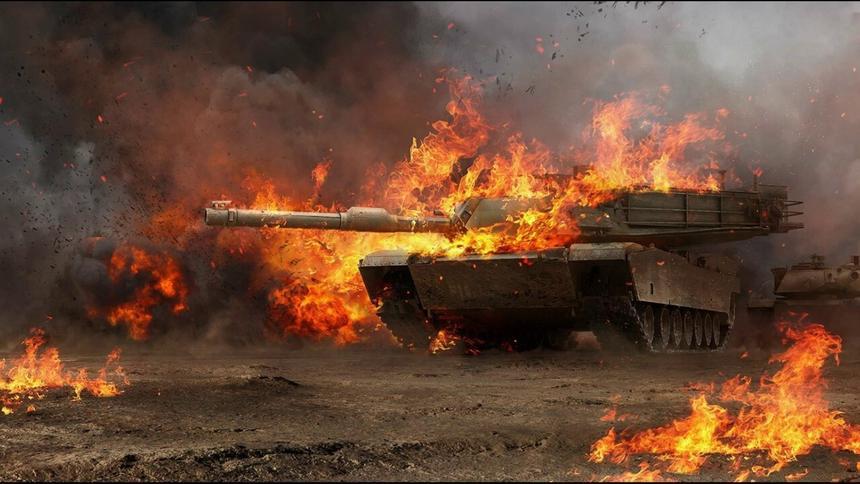 Удар по американскому танку M1 Abrams советской ракетой попало на видео