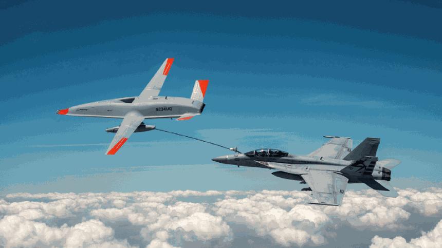 Новейший американский беспилотник впервые самостоятельно заправил самолёт