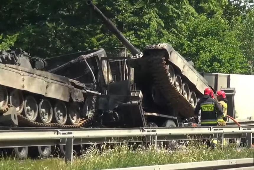 В Польше сгорели танки Т-72М1
