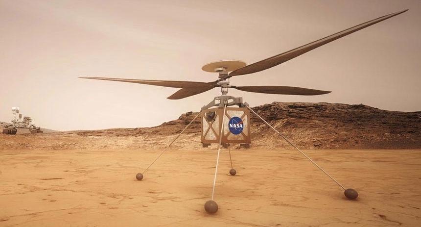 Космический вертолёт NASA совершил самый долгий полёт на Марсе